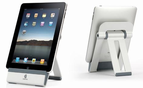 Le support A-Frame pour iPad, de face et de dos.